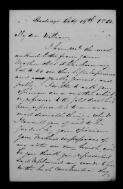 William W. Heap, Hastings, to William Bottomley, 19 October 1852,  (Item),  (from Letters of Robert Thomson )