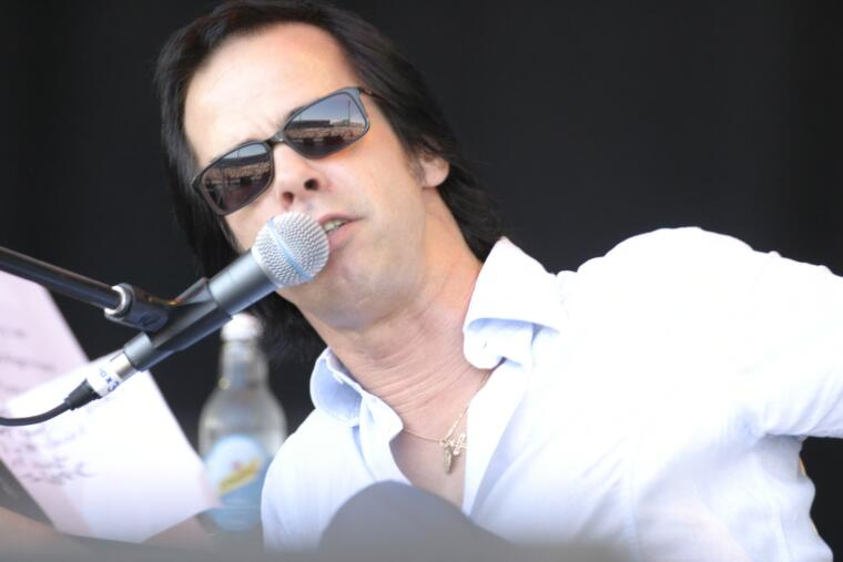 Power, Greg, 1974- Nick Cave performing at the Wave Aid relief concert for victims of the 2004 Boxing Day tsunami, Sydney Cricket Ground, 2005, [3] [picture]