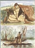 [Australian Aborigines and bark shelter] [Dora Meeson]