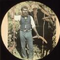 Indigenous man at Lake Tyers Reserve, Gippsland, Victoria, ca.1895 / Nicholas Caire