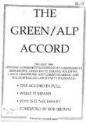 The Green / ALP accord, 29th May 1989