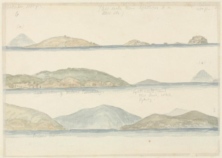 Jobson, Frederick James, 1821-1881. [Coastal profiles of Wilsons Promontory] [picture]