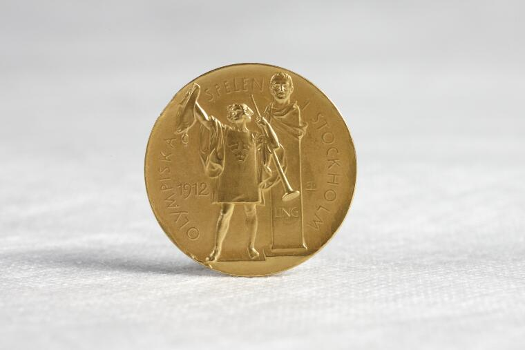 Part of  Olympic gold medal won by Miss Fanny Durack at Stockholm, 1912 [realia].