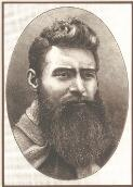 Portrait of Ned Kelly, copied from the portrait he had taken the day before he was hanged