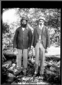 [Two Aboriginal men with a musical instrument] [William Henry Corkhill]