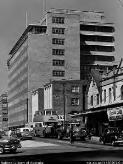 Sievers, Wolfgang, 1913-2007. Building in Miller Street by architects Stephenson and Turner, North Sydney, 1958 [picture] /