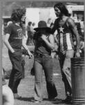 Oros, Joseph. [People with different T-shirts and different opinions at the Mulwala Rock Festival, Mulwala 1972] [picture] /