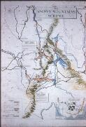 Failes, Laurie (Laurence John), 1899-1976. Map of the Snowy Mountains Hydro Electric Scheme area, covering approx. 3,000 square miles [picture] /