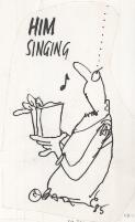 Him singing [man singing hymns] R. Bateup