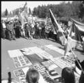 Demonstration in support of East Timor in front of the Indonesian Embassy in Canberra, September 1999 / Loui Seselja