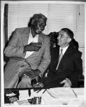 Albert Namatjira sharing a conversation with Lord Mayor Henry Frederick Jensen [picture].