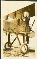 Billy Stutt in the cockpit of a Royal Aircraft Factory FE2b biplane fighter at Point Cook, Victoria, ca. 1915
