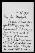 John Dugdale: congratulations, 11 Febuary 1917,  (File [38]),  (from Papers of Sir Francis Newdegate  / Letters of congratulation on Newdegate's appointment as Governor of Tasmania  (Bundle 1))