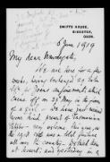 John S. Dugdale (Bicester), 06 June 1919,  (File [138]),  (from Papers of Sir Francis Newdegate  / Letters  (Bundle 4))