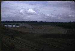 Dam spillway under construction, Fairbairn Dam, Queensland