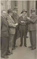 Group portrait of G.P. Whitley, T.A. Everitt, A.J. Moran, Tom Iredale and Alex Chisholm, March 1950