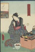 880-01 Utagawa, Toyokuni, 1769-1825 artist. Edo meisho hyakunin bijo [picture] Nihonbashi.