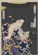 880-01 Toyohara, Kunichika, 1835-1900 artist. Zen'aku kijinkyo [picture]. Teifu Amite.