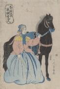 880-01 Utagawa, Yoshikazu, active 1848-1863, artist. Gokakoku no uchi Igirisu nyonin [picture].