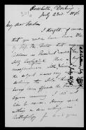 Alfred Wallace (Dorking) to Alfred Newton, 23 July 1876,  (File),  (from Papers of John Gould  / Alfred Newton Papers [John Gould component]  (MS Add. 9839) / Letters of Australian and Pacific interest in the correspondence of Alfred Newton  (8))
