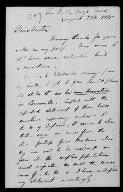 Alfred Wallace (Grays, Essex) to Alfred Newton, 25 August 1875,  (File),  (from Papers of John Gould  / Alfred Newton Papers [John Gould component]  (MS Add. 9839) / Letters of Australian and Pacific interest in the correspondence of Alfred Newton  (8))