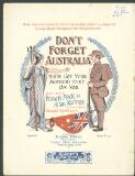 Don't forget Australia (You've got your mother's eyes on you) / words by Francis Mack ; music by Allan M. Rattray ; re-arranged by Edward H. Tyrrell