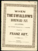 When the swallows homeward fly Agathe / the English version by G. F. Graham ; composed by Franz Abt