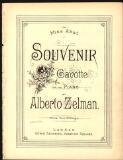 Souvenir gavotte for the piano / by Alberto Zelman