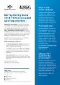 Murray-Darling Basin ... environmental watering priorities