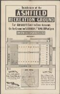 Subdivision of the Ashfield Recreation Ground : for absolute sale to close accounts on the ground on Saturday 7th April 1894 at 3 p.m. / W. Pritchard & Son, Auctioneers