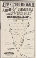 Beechwood Estate, Borough of Ashfield overlooking Dulwich Hill : for sale by public auction on the ground Saturday 3rd, October 1903 at 3 p.m. / by C. H. Crammond, Auctioneers, Petersham opposite Station, Tel. 86 Petersham