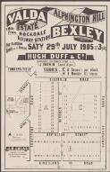 Valda Estate, Alphington Hill, Bexley : 1 mile from Rockdale Railway Station : for auction on the ground Saty. 29th, July 1905 at 3 p.m. / Hugh Duff & Co. Auctioneers 285 George Street ; J. Godwin Local Agent
