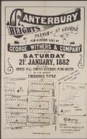 Canterbury Heights, Parish of St. George / for auction sale by George Withers & Company on the ground Saturday 21st January 1882 at 3 p.m