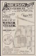 Anderson Estate, Canterbury : elevated building sites at Belmore Railway Station to be sold by public auction on the ground at 3 p.m. on Saturday the 15th Novr. 1902 / by Raine and Horne, Auctioneers, 86 Pitt St., in conjunction with Anderson & Co., Randwick ; J.M. Cantle, draftsman, 90 Pitt St