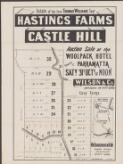 Estate of the late Thomas Williams Senr., Hastings Farms, Castle Hill : auction sale at the Woolpack Hotel, George St. Parramatta, Saty. 31st Octr. at noon / Wilson & Co., Auctioneers, 130 Pitt St., Sydney ; J.T. Cahill, draftsman, 130 Pitt St