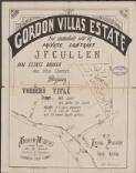 Gordon Villas Estate : for immediate sale by private contract / J.F. Cullen, real estate broker, Post Office Chambers, Sydney