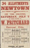 34 allotments, Newtown : being a portion of the Camdenville Estate, to be sold, on the ground, Saturday, July 7 at three o'clock / by W. Pritchard