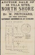 Auction sale of 34 villa sites, North Shore : known as Lord's Paddock / by W. Pritchard, on the ground, Saturday, November 24, at 3 o'clock