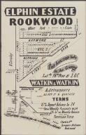 Elphin Estate, Rookwood / for auction sale on the ground, Satdy. 18th Nov. at 3 o'c. ; Watkin & Watkin, auctioneers, 313 Pitt St. & Ashfield