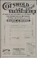 Cotswold Estate, Strathfield : by order of the executors of the late Wm. Price : for auction sale on the ground Saturday May 26th 1900, at 3.p.m. / Raine & Horne, auctioneers 86 Pitt St. ; [draftsman] J.M. Cantle 90 Pitt St