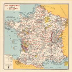 Carte gastronomique de la France cartographic material