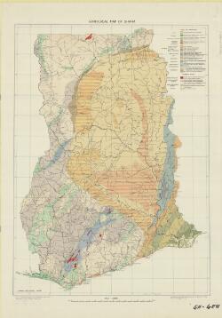 Geological map of Ghana