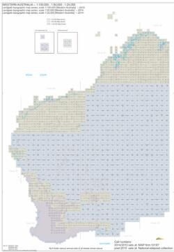 Australia 250k Map.Landgate Topographic Map Series Scale 1 50 000 Western Australia
