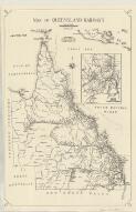 Map of Queensland railways / drawn [by] K.V. Carton