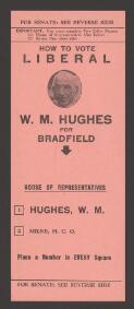 How to vote Liberal : W. M. Hughes for Bradfield