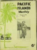 Pacific islands monthly : PIM. Vol. V, No. 1  ( Au...