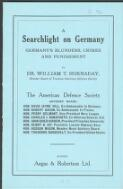 A searchlight on Germany : Germany's blunders, crimes and punishment / by William T. Hornaday