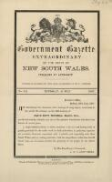 Government gazette extraordinary of the State of New South Wales. No. 88, Thursday, 25 July, 1907 / published by authority