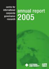 Thumbnail - Centre for International Corporate Governance Research annual report 2005.