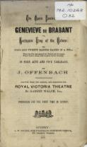 Offenbach's opera Genevieve de Brabant : containing the French text, with an English translation, and the music of all the principal airs